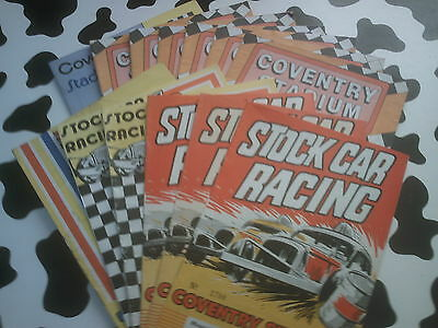 8x stock car programmes=coventry=