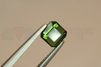 Green Tourmaline Octagon 1.08ct VS Loose Natural Gemstone 6x6mm Afghan