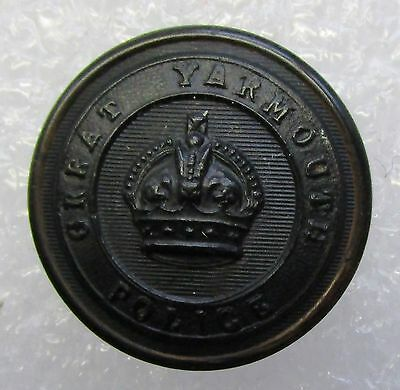 Obsolete Button - Great Yarmouth Police KC Black Large