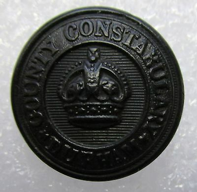 Obsolete Button - Durham County Constabulary KC Black Large