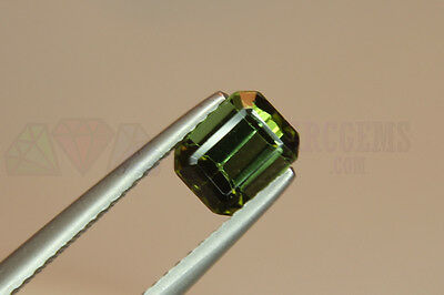 Green Tourmaline Octagon 1.15ct VS Loose Natural Gemstone 7x5mm Afghanistan