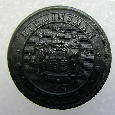Obsolete Button - Birmingham Police Black Large