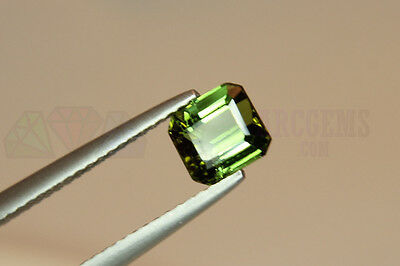 Green Tourmaline Octagon 1.19ct VS Loose Natural Gemstone 6x5.5mm Afghanistan