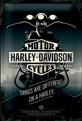 Nostalgic Art Harley Davidson Things Are Different on a Harley Schild 20x30 #