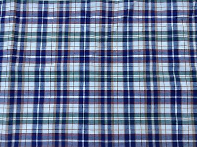 Longaberger Window Valance Lined Plaid Authentic 76 x 17.5