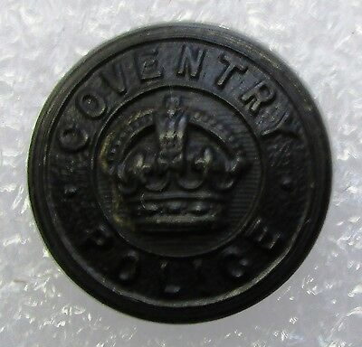 Obsolete Button - Coventry Police KC Black Large
