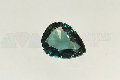 Blue Indicolite Tourmaline Pear 1.66ct SI Loose Natural Gemstone 9x7mm Afghan