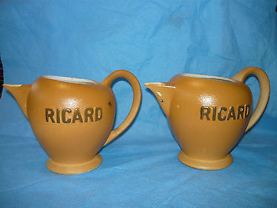 """Lot of 2 COLLECTIBLE FRENCH RICARD CERAMIC PITCHER PICHET """"MADE IN FRANCE"""""""