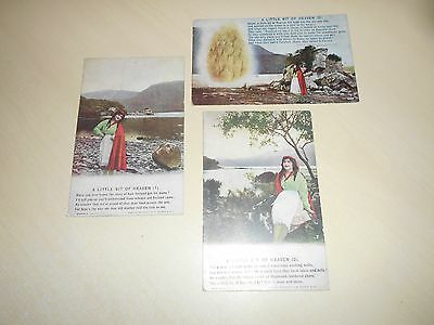 EARLY SET OF 3 BAMFORTH RELIGIOUS SONGCARD PCs - A LITTLE BIT OF HEAVEN