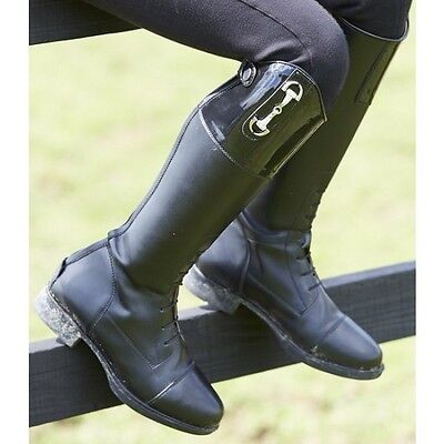 Toggi Charleston Childs /Junior Patent Top Long Leather Riding/Competition Boots