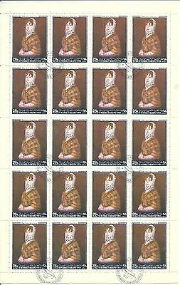 yemen feuille complete 20 timbres 1968