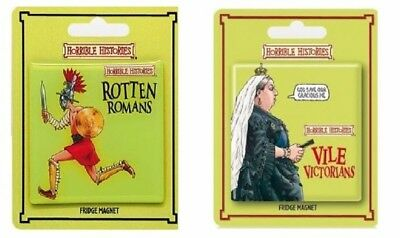 Horrible Histories Rotten Romans Vile Victorians Awful Egyptians Official Magnet