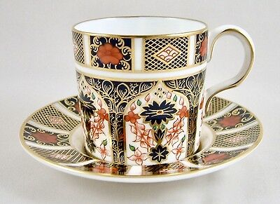 Royal Crown Derby China Old Imari 1128 Coffee Can & Saucer 1St Perfect!