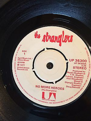 "The Stranglers -  No More Heroes- UK 7"" Single - Punk New Wave"
