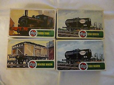 Collection Of 4 Airfix 00 Gauge Scale Model Railway Wagon Kits.