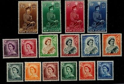 SS2 QEII NEW ZEALAND DEFINITIVES Set Mounted Mint MM