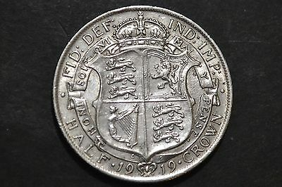 1919 King George V Silver Coin Half Crown.