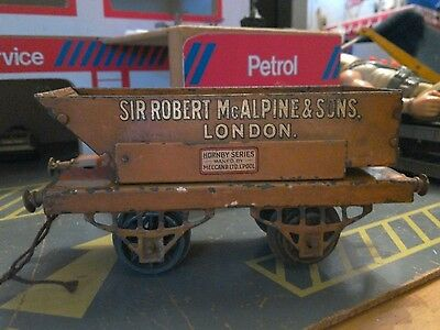 "822 : Vintage Hornby O Gauge ""Sir Robert McAlpine"" Rotary Tipping Wagon"