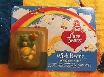 Care Bears Wish Bear Miniature Sealed ( Kenner 1982 ) Rare