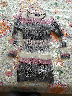 EUC Designer Girls Sweater dress Woollen Soft Winter Valentines outfit Size 7 8