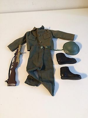 Vintage Action Man British Infantry Outfit And Accessories