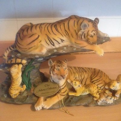 STUNNING TIGER ORNAMENT 3 adult tigers and 3 cubs - The Juliana Collection