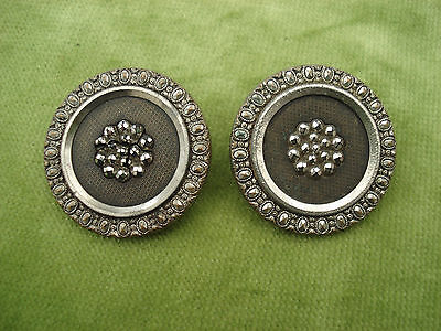 TWO VINTAGE METAL BUTTONS 31mm IN DIAMETER