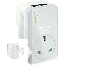 TP-Link TL-PA4020P AV600 Two-Port Powerline Adapter AC Pass Through Single Plug