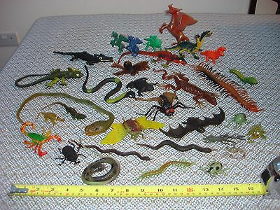 Jigglers Monster Toys Lot With Dinosaurs and Insects From The 80's Vintage Retro