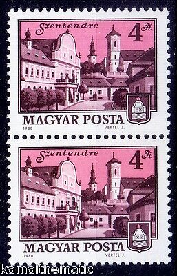 Hungary MNH Pair, Szentendre town known for Museums, Galleries, Artists  -   A06