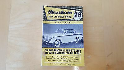 Measham Used Car Price Guide May 1958
