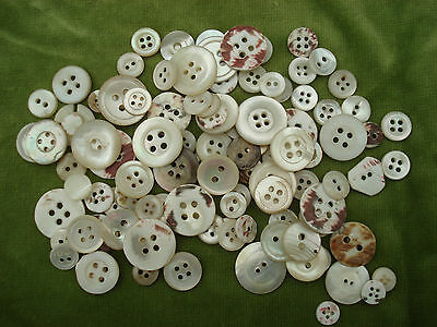 50 Vintage Mother Of Pearl Buttons