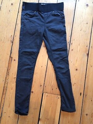 Topshop Black Leigh Maternity Jeans Size 10