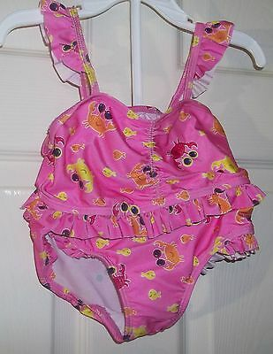 New $12.99 Toddler Girls 2pc Pink Crab Swimsuit 4T