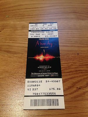 "Celine Dion ""A New Day"" Caesars Palace Ticket Stub - 2004"
