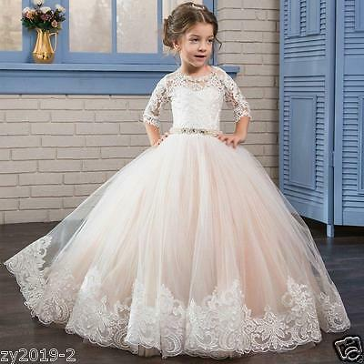 NEW Communion Party Prom Princess Pageant Bridesmaid Wedding Flower Girl Dress。