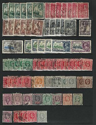 Nigeria, 4 Stock Page Sides, Mint & Used