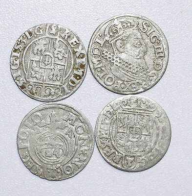 Lot Of 4 Medieval Silver Hammered Coins - Rare Ancient Artifact Stunning - B740