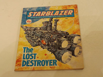 Starblazer Picture Library,no 82,1982 Issue,good For Age,very Rare Sci-Fi Comic.