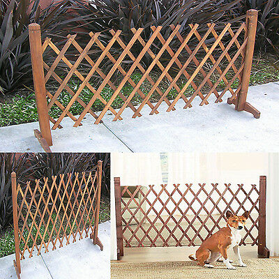 Portable Expanding Wooden Fence Garden Pet Gate Kid Safety Dog Lawn Patio  NEW - Portable Expanding Wooden Fence Garden Pet Gate Kid Safety Dog