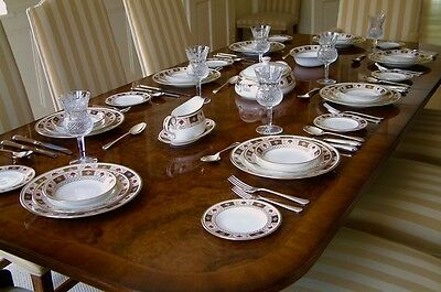 Superb Royal Crown Derby China Derby Border 6 Place Setting Dinner Service 1St