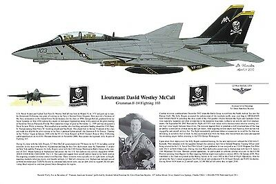 F-14, Jolly Rogers, Signed by the Pilot, Aviation Print, Ernie Boyette