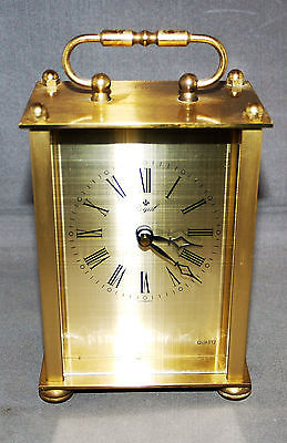 """Early Quartz carriage clock by """"ROYAL"""" """"GERMANY"""";"""