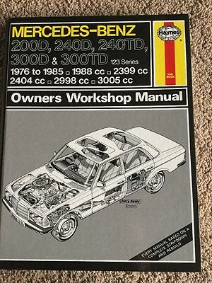 Haynes Manual Mercedes-Benz 123 Series Owners Workshop Man - Excellent Condition