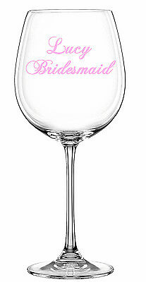 Personalised Name Wedding Birthday Occasion Stickers Wine Pint Glass Vinyl Decal