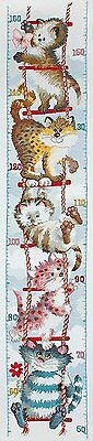 Anchor - Counted Cross Stitch Kit -Height Chart - Cats - PIO0001