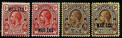 Turks & Caicos, King George V, 1918 War Tax, Overprint, Second Mng, Rest Mnh