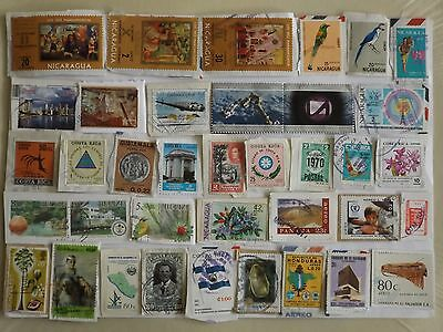 Collection of stamps from CENTRAL AMERICA : all different : 66 used stamps