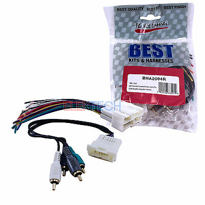 Radio Wire Harness AMP for Aftermarket Radio Stereo Installation WH-0024
