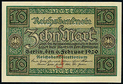 Germany 10 mark 1920, P-67a, UNC
